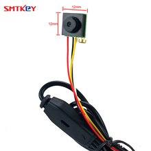 Kamera ochrony najmniejsza Mini kamera cctv 600TVL CMOS mały obiektyw Mini kamera telewizji przemysłowej dla bezpieczeństwo w domu SMTKEY