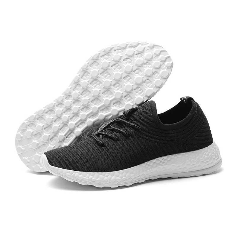 Дышащий вразлёт, плетение легкая женская обувь для бега на открытом воздухе Нескользящая Мужская Спортивная обувь для бега износостойкие сетчатые кеды