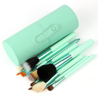 Drop Shipping Professional Makeup Brush Set 12 Pcs Kit Leather Cup Holder Case Kit