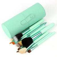 Drop Shipping Professional Makeup Brush Set 12 Pcs Kit Leather Cup Holder Case Kit