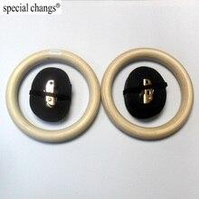 """1 """"anelli di ginnastica portatili in legno, 1 pezzo di legno, 1 pezzo di legno, per palestra, crossfit, allenamento della forza"""