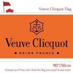 3x5 stóp Veuve Clicquot Flag 90*150cm drukowanie Banner do dekoracji wnętrz|Flagi  banery i akcesoria|Dom i ogród -