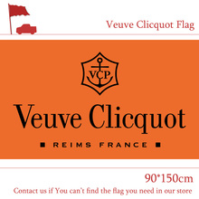 Free shipping 3x5 Feet Veuve Clicquot Flag 90*150cm Printing Banner For Home Decoration