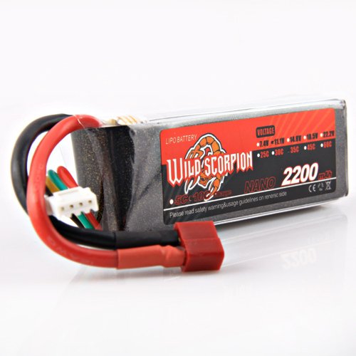 1pcs Wild scorpion Rc Lipo Battery 11.1V 2200mAh 35C Li-polymer RC Battery For RC Quadcopter Drone Helicopter Car Airplane wild scorpion 11 1v 5500mah 35c rc car helicopter model plane lipo battery free shipping