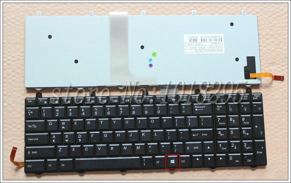 Nouveau pour Clevo Sager V132150AK1 6-80-P2700-011-3R clavier d'ordinateur portable rétro-éclairé US WIN8 KEY Right