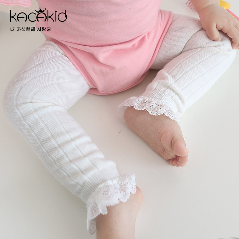 Kacakid 2019 New Spring Summer Autumn Super Cut Solid Lace Baby Girls Pantyhose Kids Tights 1-6T