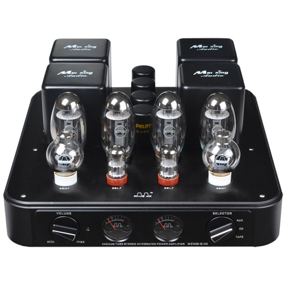 Meixing Mingda MC368-B150 KT150 Stereo Integrated / Power Amplifier AMP Signal-ended Integrated Triode Lamp AMP roksan kandy k3 integrated amp anthracite