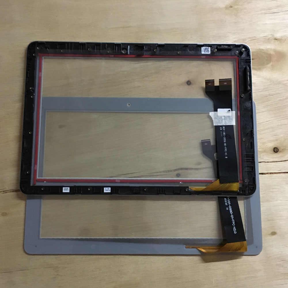 Utilizzato parti di pannello Touch screen digitizer di ricambio Per Asus MeMO Pad 10 ME102K ME103K K01E MCF-101-1856-01-FPC-V1.0 di Vetro