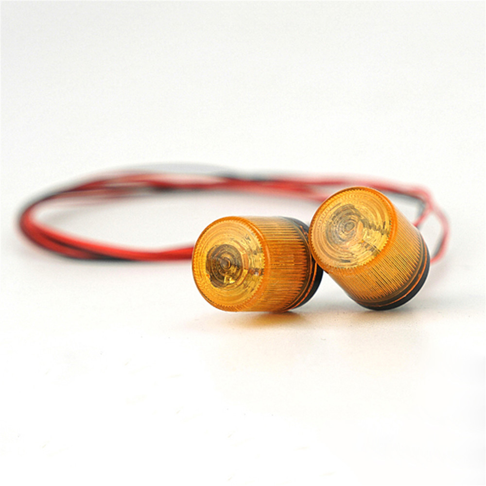 2pcs Rotating Warning Lights for 1/14 TAMIYA Tractor Truck RC Car DIY Rmote Control Model Spare Parts Roof Rotating Warning Lamp|Replacement Parts & Accessories| |  - title=