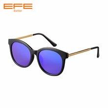 9cbf1604d9 EFE 2018 nouvelles lunettes de soleil polarisées femmes de luxe ovale  Vintage lunettes de soleil pour hommes mâle femme rétro ma.