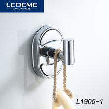 LEDEME Hooks Wall Door Clothes Coat Hat Hanger Robe Hook Kitchen Bathroom Rustproof Towel Hooks Coat Hat Door Hange L1905-1(China)