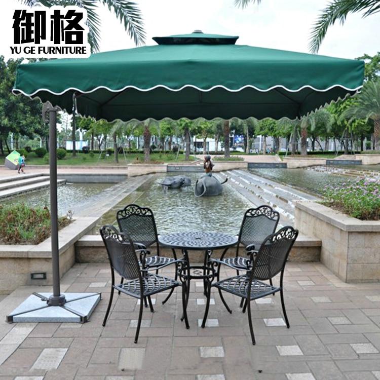 Roman Shade Outdoor Umbrella Leisure Furniture Garden