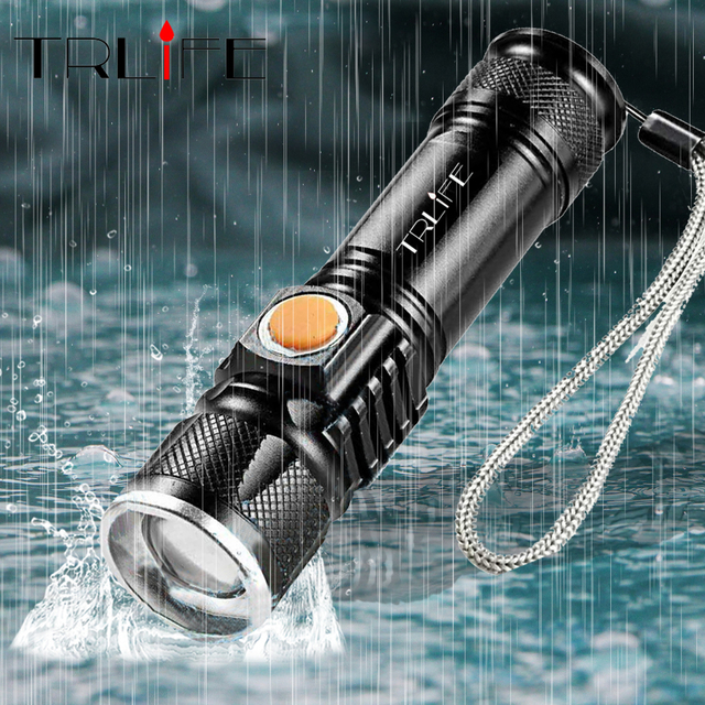 USB Inside Battery T6 Powerful Led Flashlight Portable Flash Light Built-in Rechargeable Tactical LED Torches Zoom Flashlights