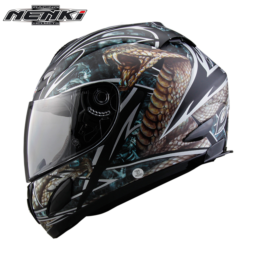 NENKI Motorcycle Full Face Helmet Chopper Cruiser Street Bike Motorbike Riding Racing Helmet DOT with Clear Lens for Men Women nenki motorcycle helmets motocross racing helmet motorbike full face helmet capacete de moto for men and women 13 color