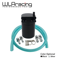 WLRING STORE Universal Black Baffled Universal Aluminum Oil Catch Tank Can Reservoir Tank WLR TK63