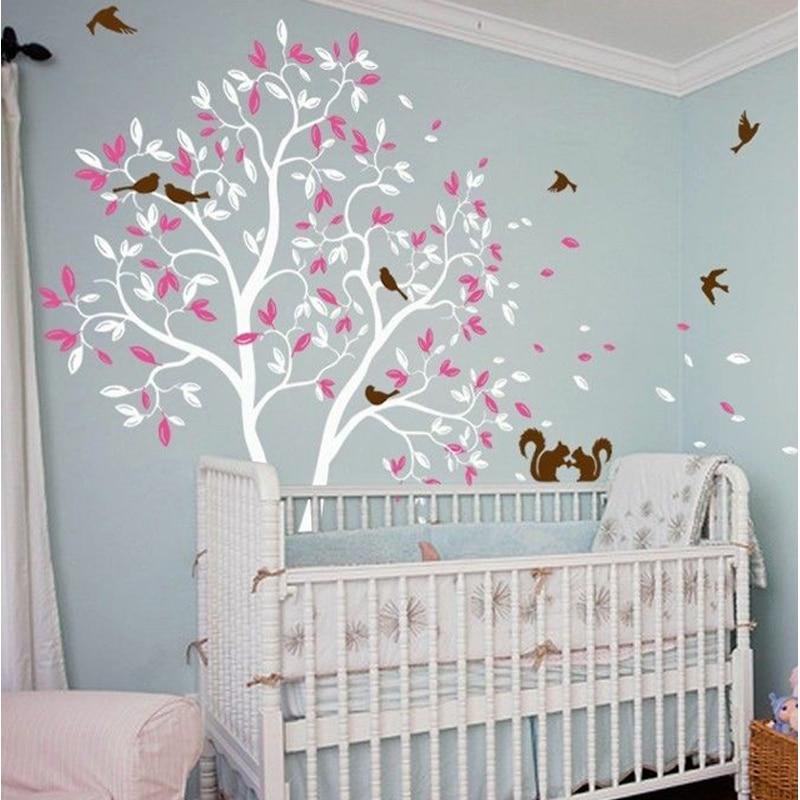 Kinderzimmer Wandtattoo Koala Baum Wandabziehbild Modernes Baby Nursery Decor Rosa