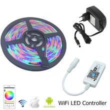 SMD 3528 Waterproof RGB LED Strip Light 10m 600 led diode Tape +RGB Wifi LED Controller +12V 2A 3A 5A EU US Power Transformer
