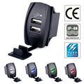 Dual usb car charger 3.1a 12v Power Adapter Waterproof charger socket plug For Auto motorcycle Bus  iPhone 5 6 6S Ipad  Samsung