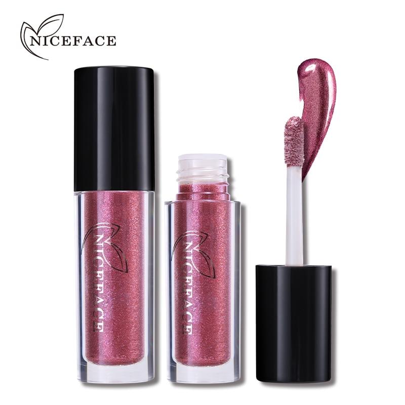 NICEFACE Про металик червило течен водоустойчив 24H трайно матов блясък за устни Nude Lip стик татуировка грим козметични уреди за красота  t