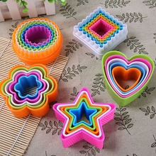 NEW 5Pcs Fondant Cake Cookie Sugarcraft Cutters Decorating Molds Tool Set Kitchen Supplies Store 243(China)