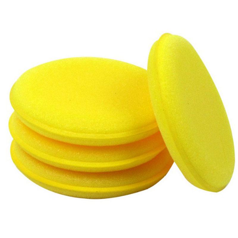 10pcs Set Anti Scratch Car Circle Clean Wax Polish Yellow Foam Soft Sponges Pad Durable to