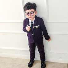 0e8e25fe3 Dollplus Suit for Boys Tuxedo Boys Suits for Weddings 3pcs/set(Coat+Vest+Pant)  Baby Boy Blazer Wedding Baby Suit Gentleman 3-10Y