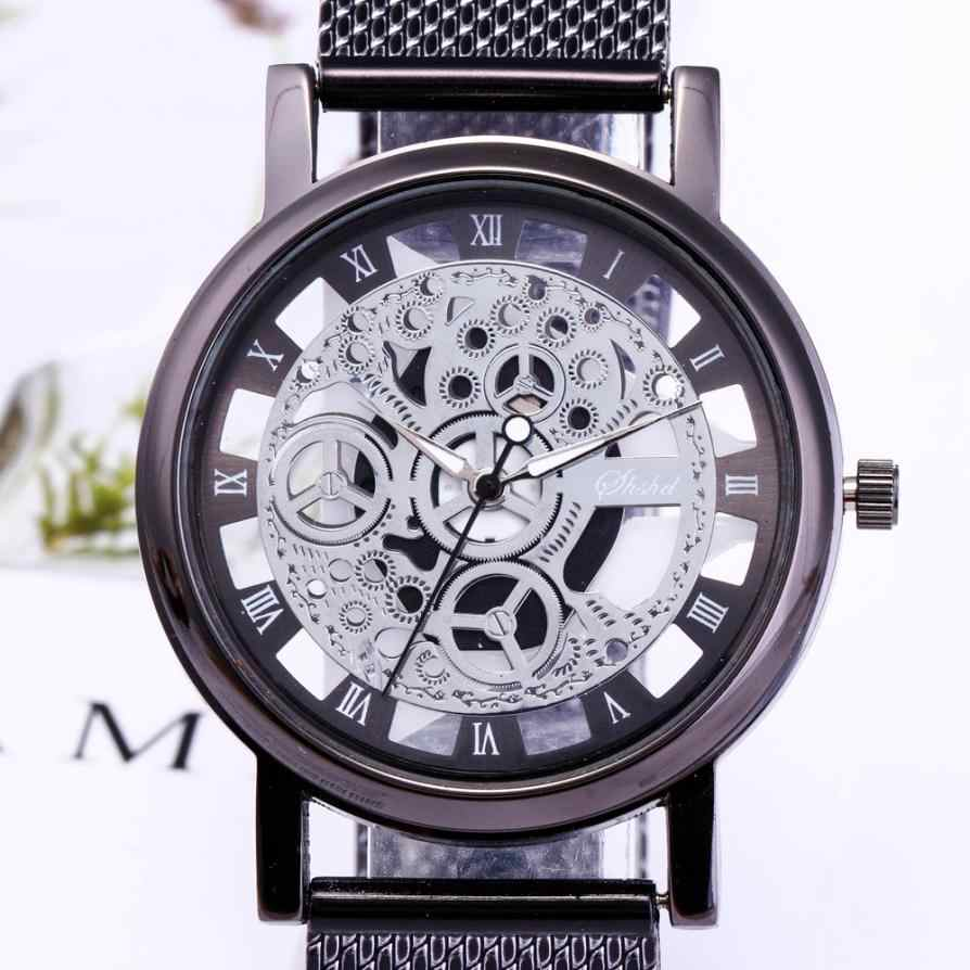 Men Quartz Sport Military Stainless Steel Dial Alloy Band Wrist Watch Best Sale 2018 Fashion Women high quality Fashion Luxury