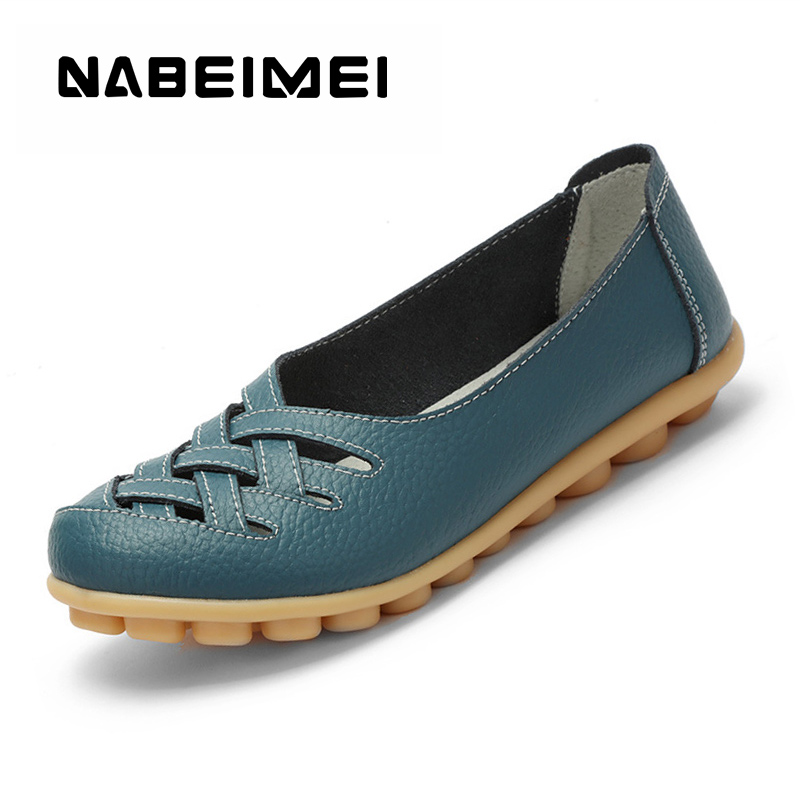 Loafers genuine leather flat women shoes pigskin shallow Ladies shoes slip-on hollow round toe Big size 34-44 Casual shoes solid size 35 39 pointy toe flat platform shoes pigskin leather shoes black white color slip on women s shoes