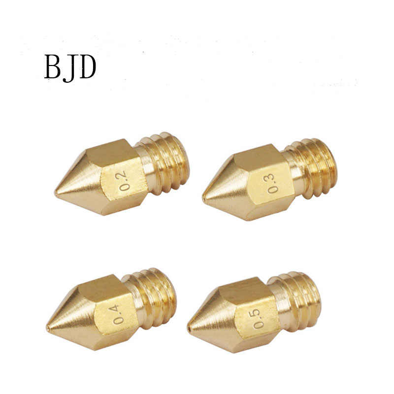 10 ピース 3D プリンタアクセサリーすべて金属カスプ真鍮ノズル Mk8 1.75/3 ミリメートル素材レタリングノズルナット
