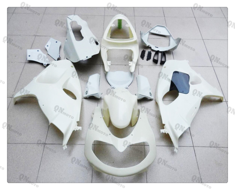 Motorcycle Unpainted White Fairing Cowl Body work Kit For SUZUKI GSX/TL1000R 1998 - 2002 99 00 01 + 4 Gift