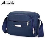 Amarte Casual Men S Bag Shoulder Crossbody Bags For Men Messenger Bag Men Nylon Soild Small