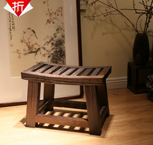 Enjoy discount shipping [] wood burning Paulownia wood stool stool gold saddle shoes stool ottoman stool