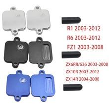 Гоночный приводной выхлопной Smog блок выключения пластины комплект блок для Yamaha YZF R1 R6 03-12/FZ1 03-08/ZX6RR ZX636 03-08 ZX 6RR 636