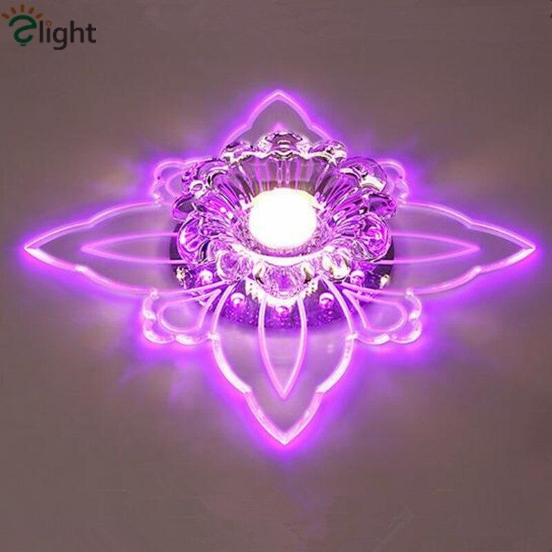 Dia20cm Moderne RGB Crystal Foyer Led Kroonluchter Verlichting Lustre Acryl Gang Led Plafond Kroonluchters Veranda Kroonluchter Verlichting|Kroonluchters|Licht & verlichting -