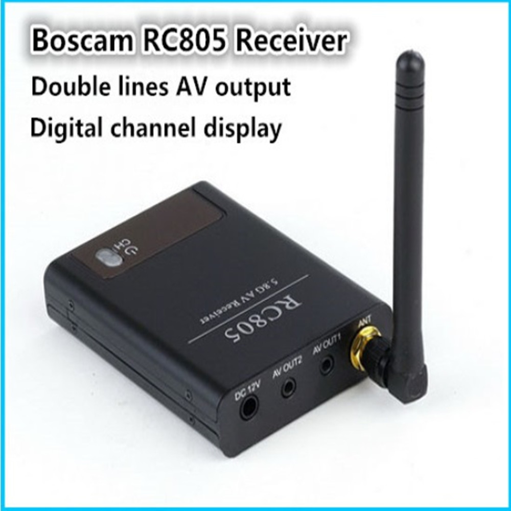 original Boscam FPV 5.8Ghz 8 Channel  Wireless A/V Video Audio Receiver (RX)  RC805 with digital channel display for fpv boscam fpv 5 8g wireless audio video receiver receiving module rx5808