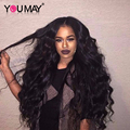 7A 250% Density Lace Front Human Hair Wigs For Black Women Lace Frontal Wigs Full and Thick Brazilian Body Wave Human Hair Wigs
