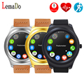 Lemado caliente q2 bluetooth smart watch reloj monitor de fitness rastreador smartwatch podómetro para huawei apple teléfono moto