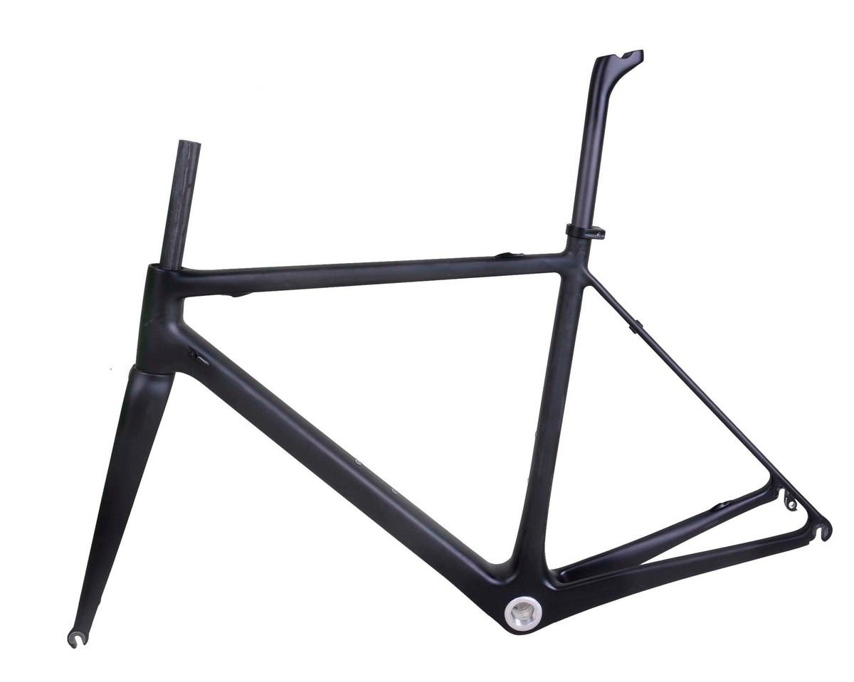 Carbon material road  frameset 700c wheels white frame carbon road