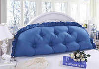 100%cotton large Bedside backrest cushion big long pillow princess lace Comfortable cushion with core 120/150/180/200CM size