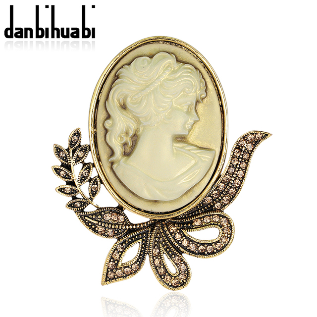 Antique gold color vintage cameo brooches pretty beautiful queen antique gold color vintage cameo brooches pretty beautiful queen luxury jewelry fashion brooch pins for women aloadofball