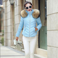 More colors short Winter jacket women,warm thick parka,fashion faux fur coat collar hooded coat women winter parkas TT1526