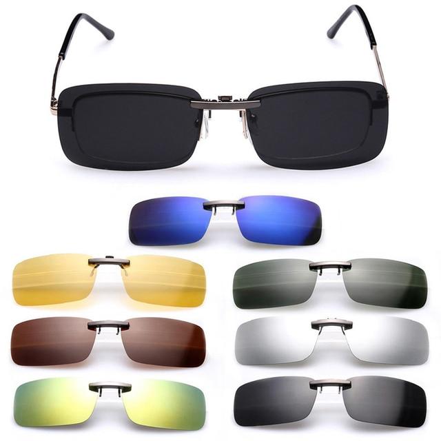 868f5d95a7 Polarized Clip On Sunglasses Men Driving Night Vision Lens Sun Glasses Male  Anti-UVA UVB