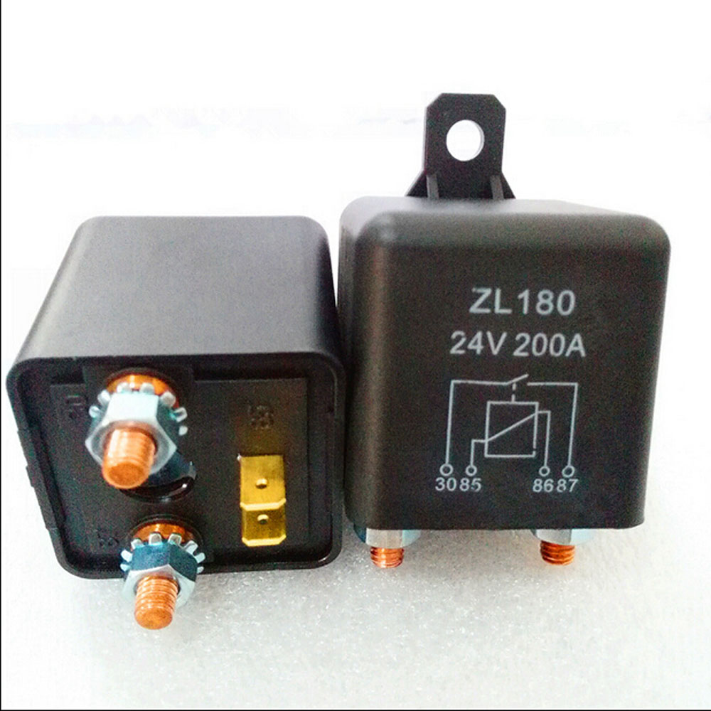 Automobile relay  ZL180  normally open electromagnetic current 200 A DC24V 4 pin  Auto starter relay automobile relay zl180 normally open electromagnetic current 120 a dc12v 4 pin auto starter relay