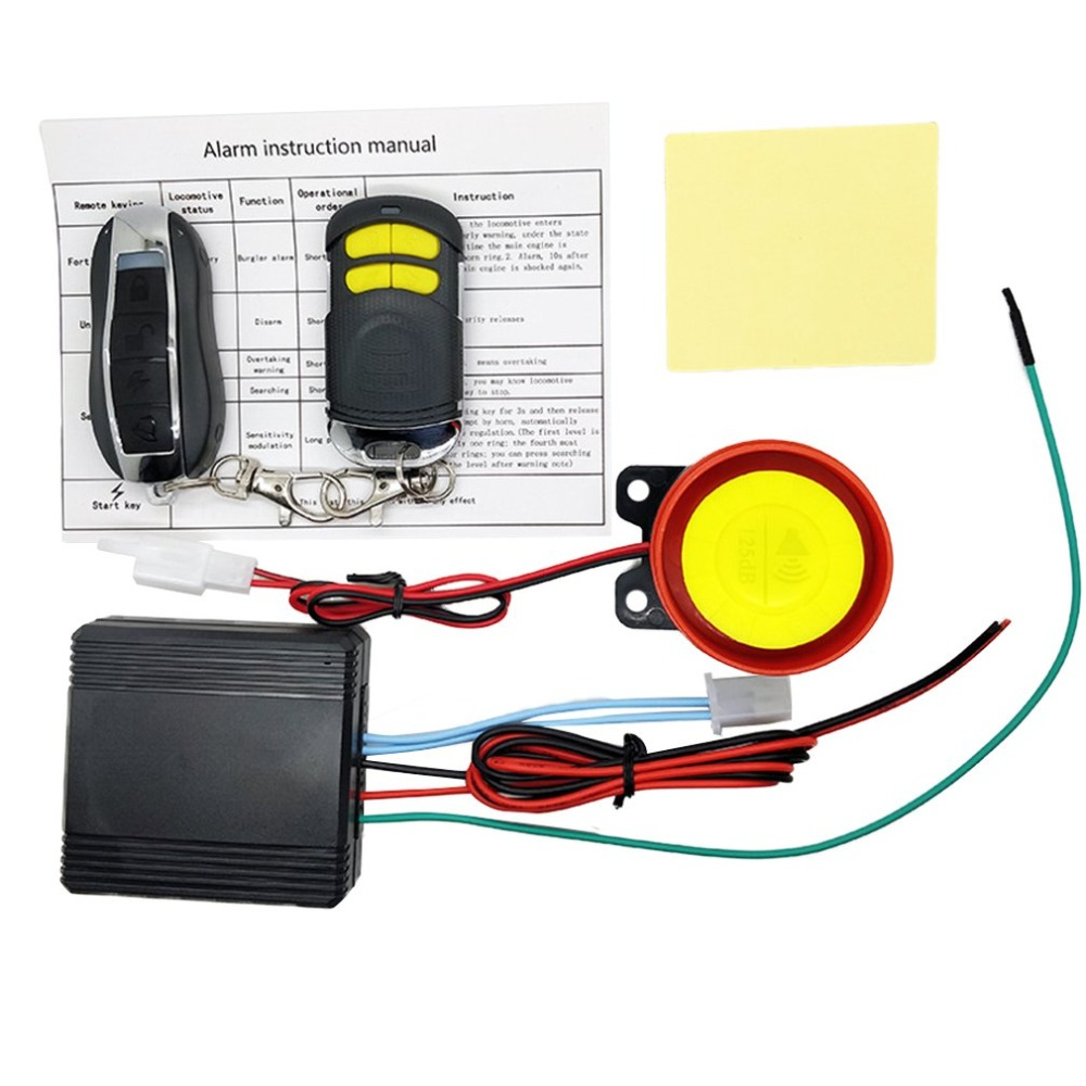 Universial Dual Remote Control Motorcycle Alarm Security System Motorcycle Theft Protection Bike Scooter Motor Alarm System