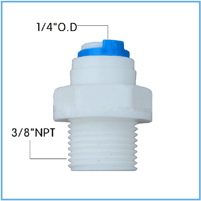 3/8 NPT Male Thread Straight Quick Connector Fittings to 1/4 OD Hose connection 50PCS Free Shipping industry 3 8 pt male thread full port quick couplers for 8mm od hose