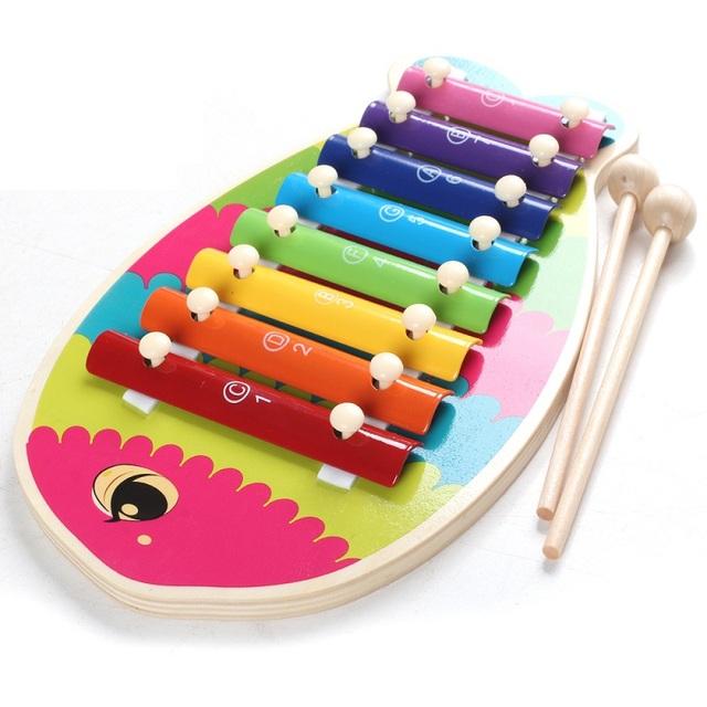 Na primeira infância 8 nota musical toys aprendizagem precoce do bebê mão bater xilofone música educacional interesse d323