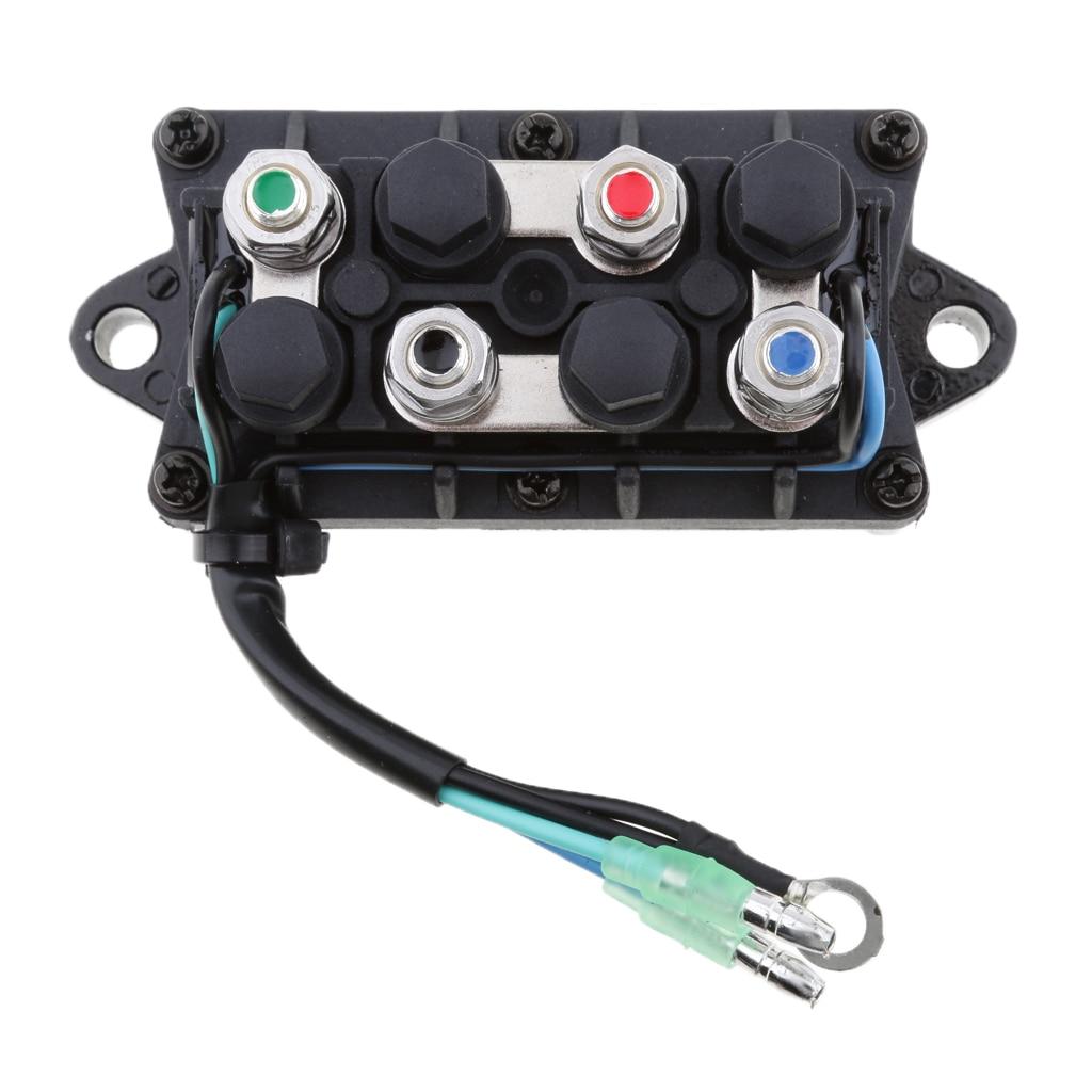 מזגנים 1 יח 2 Trim כוח 12V חוט Plug & ממסר עבור 40-225HP ימאהה 4 Stroke חיצון מנוע וכו Repalce 63P-81950-00-00 (3)