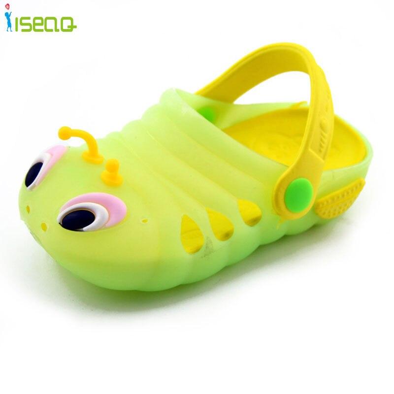 Baby Kid Girl Boy Sandals Croc Caterpillar Summer Beach Slippers Flip Shoes Cute