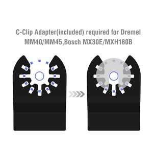 Image 5 - WORKPRO 23PC Saw Blades Multi Tool Oscillating Saw Blades for Dremel Bosch Milwaukee Quick Release Saw Blades for Metal/wood