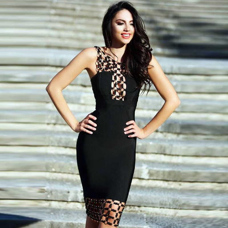 Bqueen 2019 новый круг выдалбливают без рукавов, с открытой спиной, сексуальное облегающее Бандажное платье модное женское платье Vestidos
